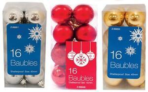 16-32-Inastillable-40mm-Bolas-Decoracion-Arbol-Navidad-Navidad-Rojo-Oro-Plata