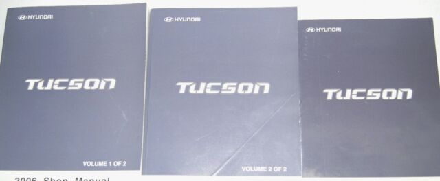 2006 Hyundai Tucson Service Repair Shop Manual Set Factory