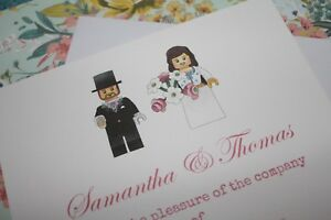 Details About Personalised Lego Bride Groom Wedding Engagement Invitations