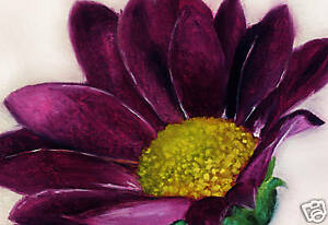 large floral painting on canvas purple flower art a1 ebay