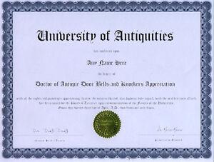 Doctor-Antique-Door-Bells-and-Knockers-Novelty-Diploma