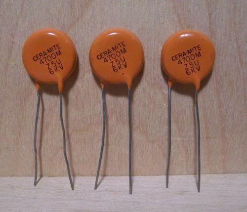 3  CERAMITE 564R60GAD47 4700pF 6KV CERAMIC DSK CAPACITORS LOT  Free Postage