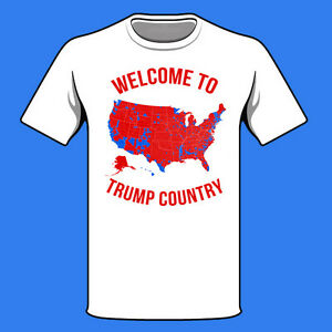 Donald Trump Inauguration Shirt Voter Map Red States Counties