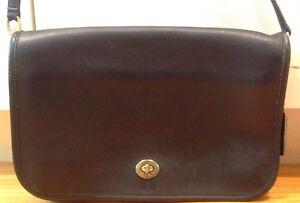 Details about Vintage COACH 9635 Convertible Clutch Cross Body Handbag, Black Leather