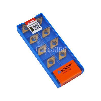 10Pcs KORLOY DCMT11T308-HMP DCMT32.52-HMP NC3020 NEW Carbide  inserts