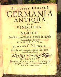 1663-GERMANIA-ANTIQUA-CUM-VINDELICA-ET-NORICO-P-CLUVERI-10-CARTE-GEOGRAFICHE