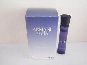 Giorgio Armani Code eau de parfum 3ml / 0.1 oz mini boxed