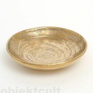 Harjes-Bronze-runde-kleine-Schale-Teller-163-Kunsthandwerk-Handarbeit-60s