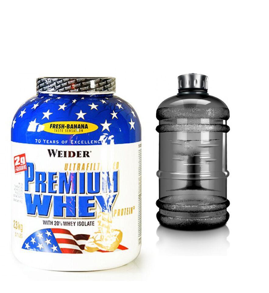 kg Weider premium whey projoein projoeínas 2,3kg lata + Bonus galón