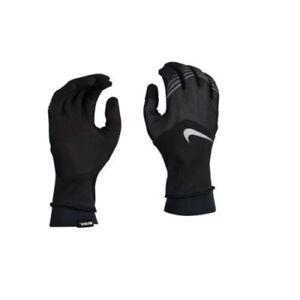 Nike Storm-FIT Hybrid Running Gloves Women's Small Black/ White  NRGF6003SL