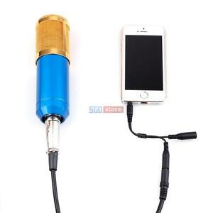 iphone 6 microphone audio condenser microphone mic recording w splitter cable 11363