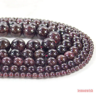 Garnet Round Beads 8mm Dark Red 50 Pcs Gemstones DIY Jewellery Making Crafts