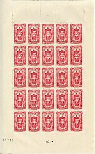 STAMP-TIMBRE-FRANCE-NEUF-N-596-FEUILLE-DE-25-TIMBRES-BOURGOGNE