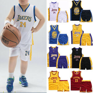 97694611d Image is loading Boys-Kids-Sports-Tops-Basketball-Jerseys-Shorts-Suits-
