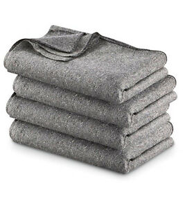 NEW-HIGH-QUALITY-GREY-WARM-WOOL-FIRE-RETARDANT-BLANKET-62-034-X-80-034-52-WOOL