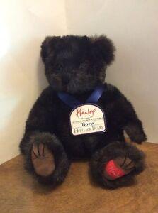 Hamleys-Boris-Plush-Jointed-Black-Bear-Heritage-Collection-London-UK-15-034-NWT