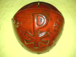 Weihwasserbecken-Holy-Water-Font-Keramik-Pottery-Rot-XP-Christus-81-2-Montanus-amp