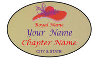 121 Personalized Magnetic Name Badge For Red Hat Ladies Of Society