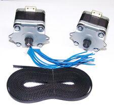 2 x Nema 17 Stepper Motors + 2000mm GT2 Timing Belt DIY 3D Printer Linear Motion