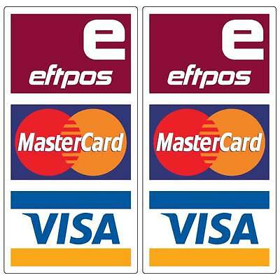 Paywave Paypass Mastercard Visa Eftpos Stickers 2 pack water /& fade proof 200mm