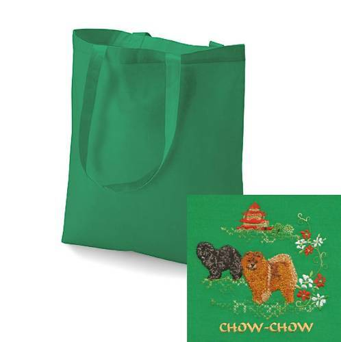 Chow Chow Tote Bag Perfect Gift Embroidered by Dogmania
