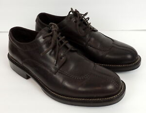 Cole Hommes Haan En 9 Toe Chaussures Split Cuir Up Country 9d Oxfords Lace Brown Eqr0Ep