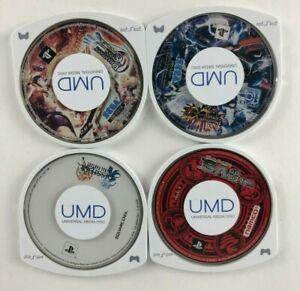 Lot Of 4 Sony PSP Japanese JP Import Phantasy Star 1 & 2 Dissidia Tales of Vs