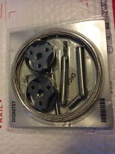 """NEW IKEA DIGNITET STAINLESS STEEL 197"""" CURTAIN WIRE, NEW in Factory Packaging"""