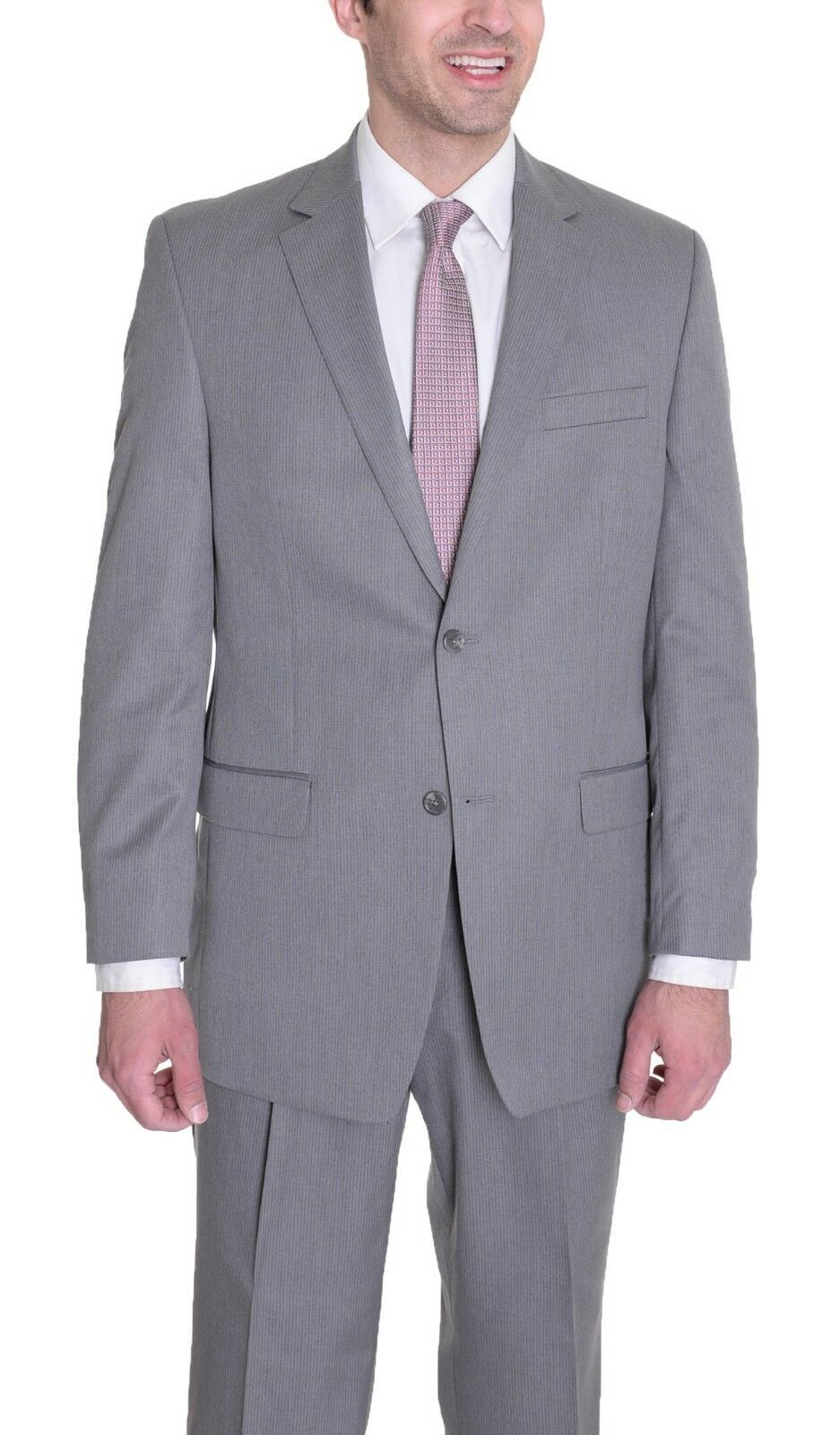 300 Izod grau Striped Classic Fit Two Button Suit 38S 31W