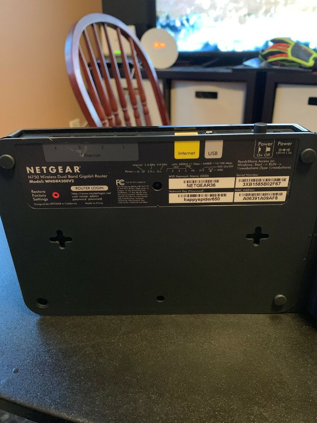 NETGEAR N750 WiFi Wireless Dual Band Gigabit Router WNDR4300V2