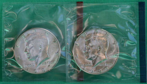 1987 P and D Kennedy Half Dollar Coin from US Mint Set 2 BU Cello Fifty Cent UNC