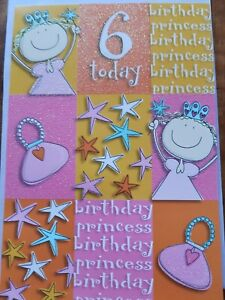 Image Is Loading HAPPY 6TH BIRTHDAY CARD GREETING DAUGHTER NIECE FRIEND
