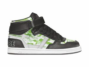 Kids' Clothing, Shoes & Accs Globe Skate Shoes Lace Up Ankle Shoe Superfly Kids White Green Rubberband
