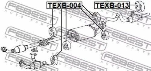 Montage-Set Auspuffanlage Febest TEXB-004