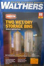 Walthers HO #933-2937 Wet/Dry Grain Storage Bin -- Kit  - Each: 3-5/8 x 3-5/