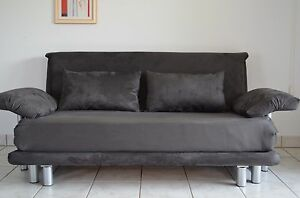ligne roset multy 3 schlafsofa in microfaser anthrazit mit. Black Bedroom Furniture Sets. Home Design Ideas