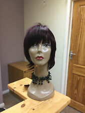 Real Ladys 100% Human Hair Wigs~ Ladies Wig Dark Wine   Colour 99j  SHORT