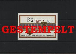Germany-GDR-DDR-R-d-a-Vintage-1984-Mi-Bloc-77-Timbres-Used-Plus-Sh-Boutique