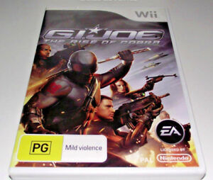 G-I-Joe-The-Rise-of-Cobra-Nintendo-Wii-PAL-Complete-Wii-U-Compatible