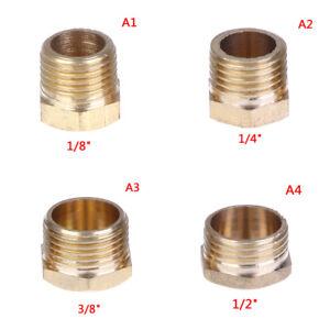Brass-1-8-034-1-4-034-3-8-034-1-2-034-brass-external-hex-thread-socket-pipe-plug-Pip-ALBLCA