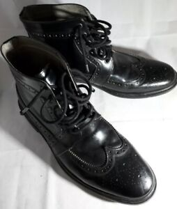 e55e7dfdf0c Rare! ALL SAINTS Designer Black Leather Brogue Ankle Boot Shoe, YSL ...