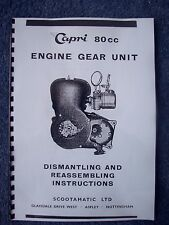 Capri 80cc Scooter Engine Gear Unit Dismantling Reassembling Instructions 1960-3