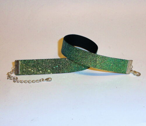 kropfband Brillo-collar//choker-musgo-verde,, estrecho