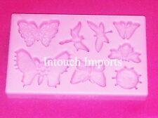 NUOVO FARFALLA COCCINELLA INSETTO stampo in silicone per Sugarcraft Torta Decorazione
