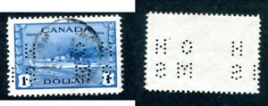 Used-Canada-1-OHMS-Peforated-Official-Stamp-O262-Lot-13450
