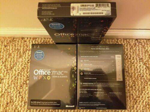 Microsoft Office Mac Home/&Business 2011,SKU W9F-00014,Sealed,Full Retail License