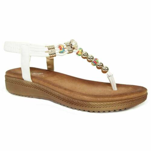 Lunar Acorn Femme toe post sandals-Blanc