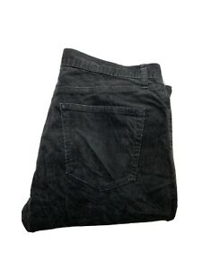 Uniqlo-Womens-Corduroy-Jeans-Size-32-x-29-Slim-Leg-Dark-Grey
