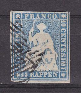 Schweiz-1854-MiNr-14-I-b-gestempelt-10-Rp-034-STRUBEL-034-gepr-MARCHAND