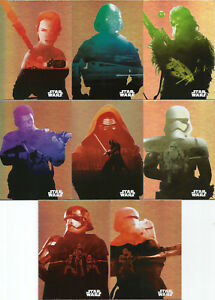 2015-Topps-Star-Wars-Journey-to-the-Force-Awakens-Character-Silhouette-Foil-Set